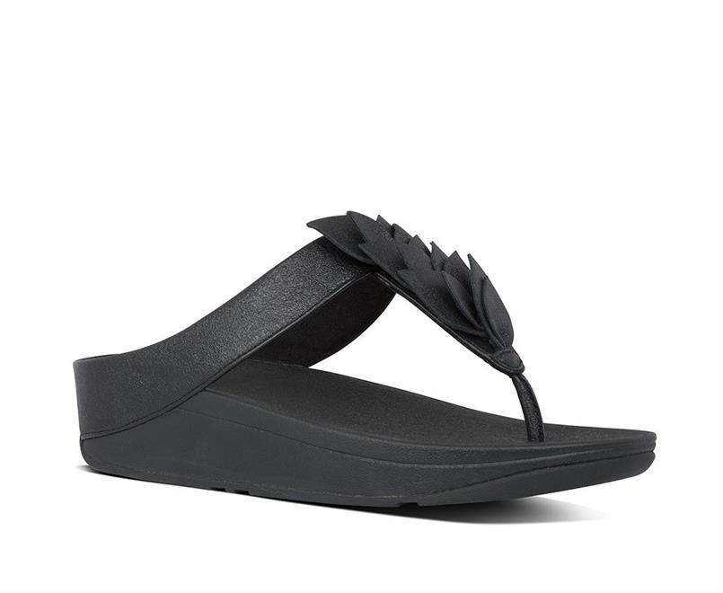 Fitflop Fino leaf Toe-Thongs Leather