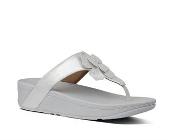Fitflop Lottie Corsage Suede Toe-Thongs Leather