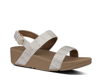 Fitflop Lottie Glitter Stripe Bak-Trap Sandals Polyester
