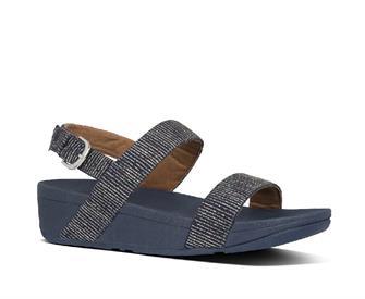 Fitflop Lottie Glitter Stripe Bak-Trap Sandals Polyester