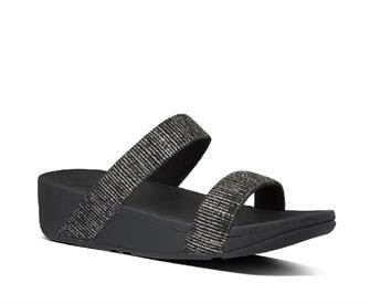 Fitflop Lottie Glitter Stripe Slides Polyester