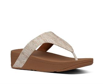 Fitflop Lottie Glitter Stripe Toe-Thongs Polyester
