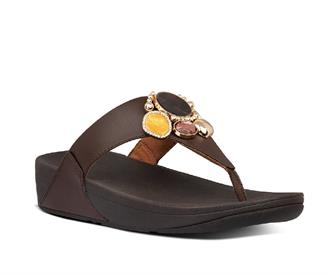 Fitflop Lulu cluster toe-thongs pu