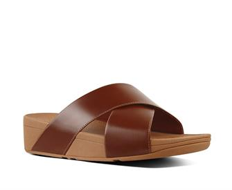 Fitflop Lulu Cross Slide Sandals Leather