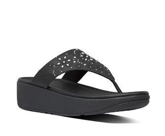 Fitflop Myla Floral Stud Toe-Thongs PU